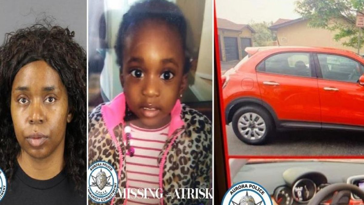 """2-year-old Miracle is pictured in the middle and was last seen Wednesday night in Colorado. Her mother, Tiffany Hardy is pictured on the left.  Tiffany was found """"incoherent"""" Thursday morning in Denver.  Tiffany's car is missing, pictured on the right.  Colorado license plate VQJ-186.  Call 911 if seen.  Photos courtesy Aurora PD."""