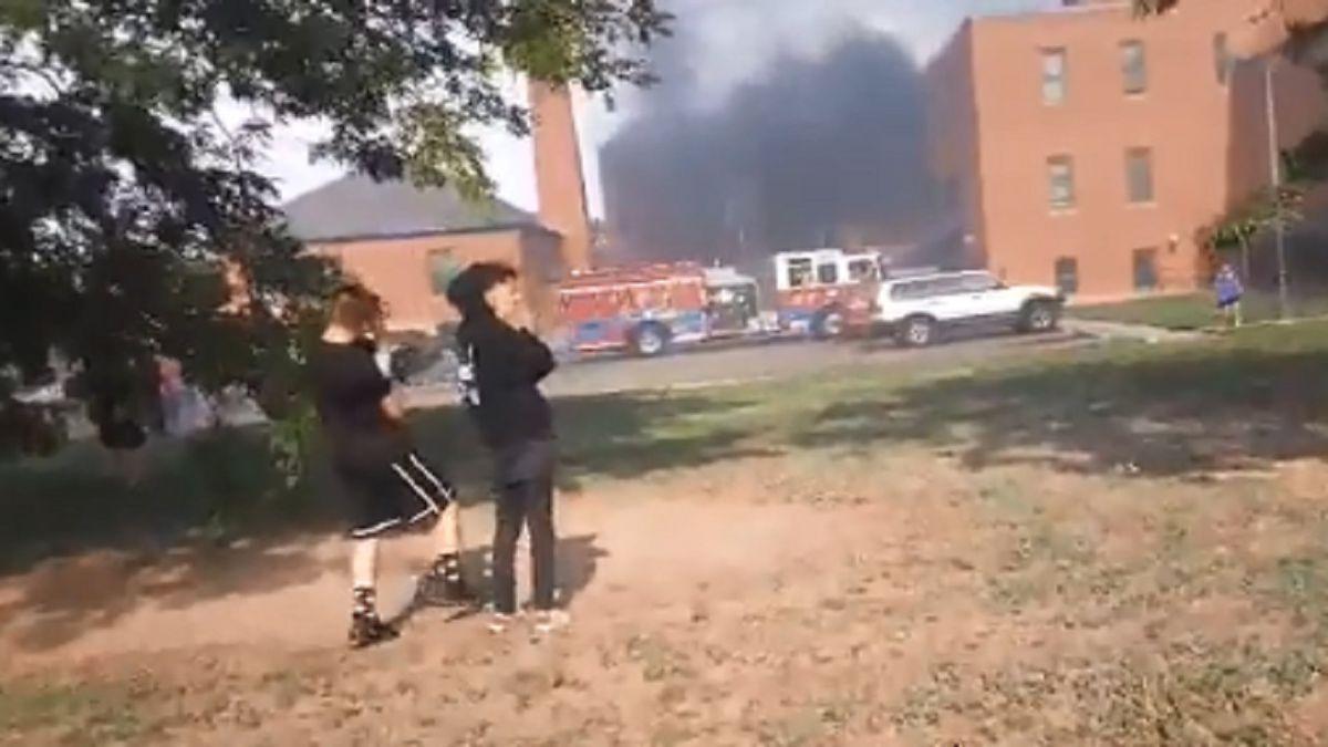 Photo courtesy Chris Osorio of a fire in Pueblo on 8/4/20.