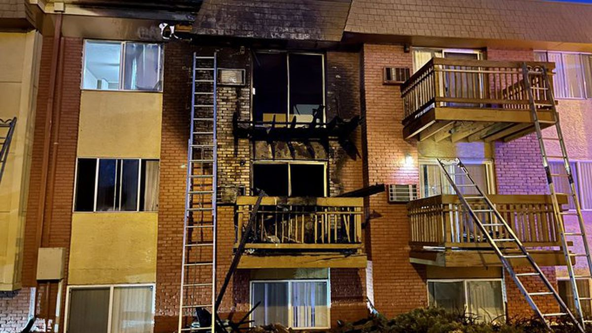 Four people were displaced following an apartment fire near Woodmen and Academy on April 5, 2021.