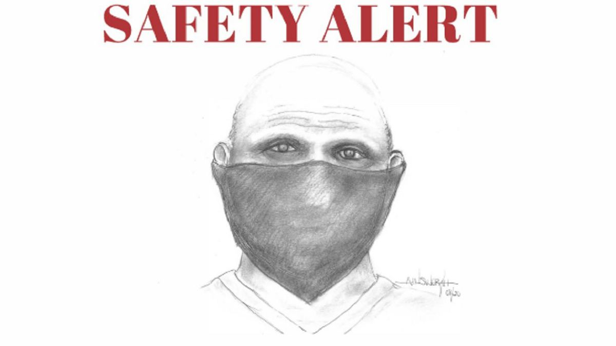 Composite sketch of a sexual assault suspect from the BCSO.
