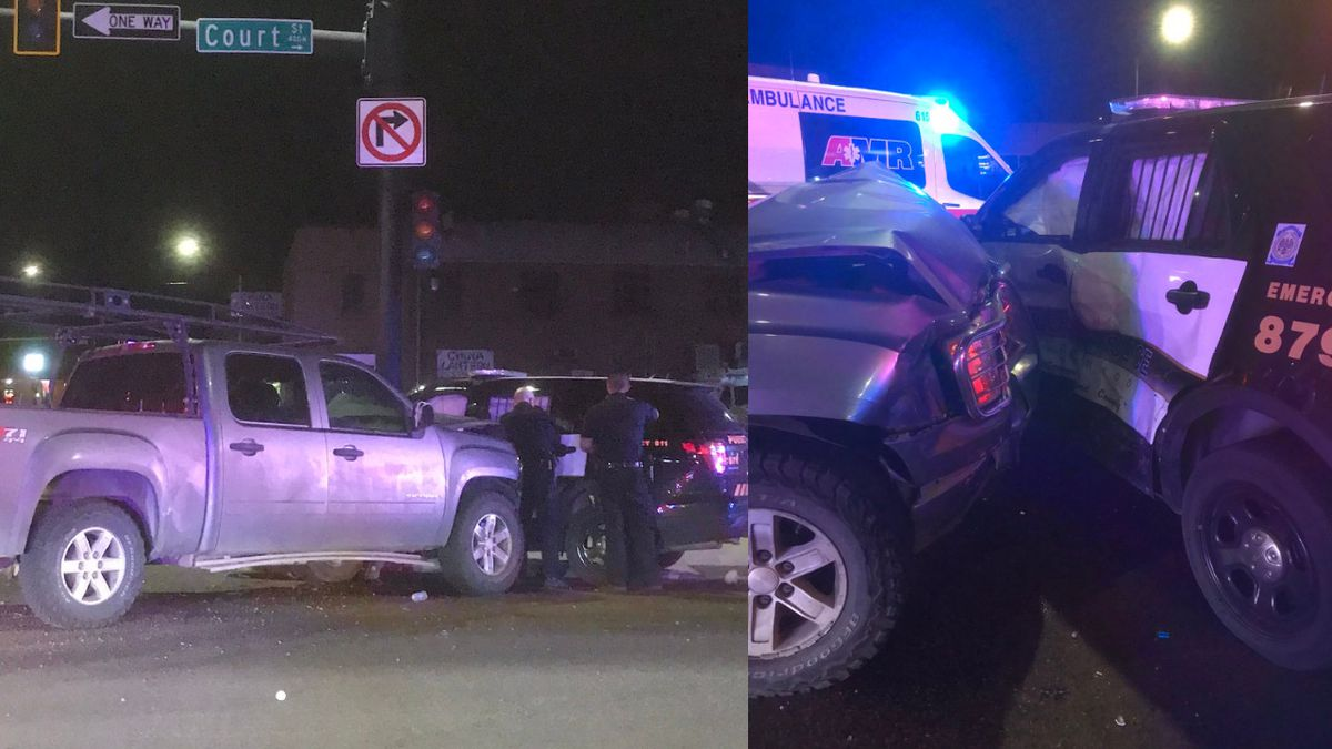 A police officer is in the hospital following an alleged DUI crash in Pueblo Friday morning....