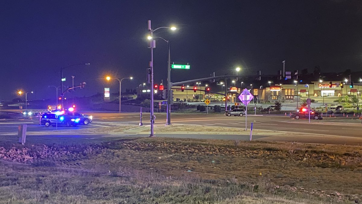 Police on the scene of a collision at Barnes and Powers on Sept. 19, 2021.