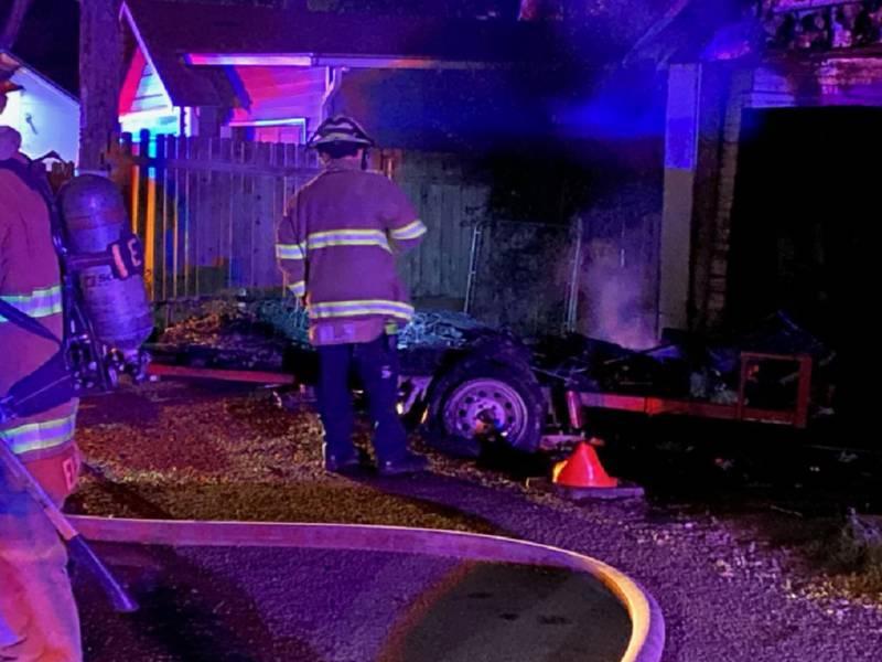 Crews respond to a fire in Colorado Springs 7/23/21.