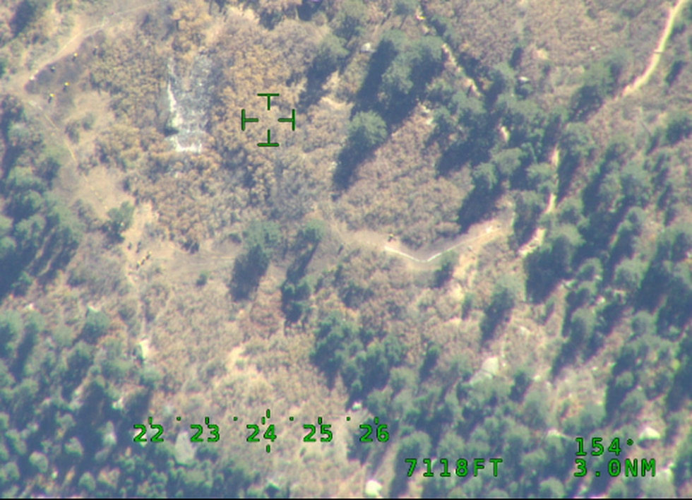 Picture of Incline Fire size from the air.