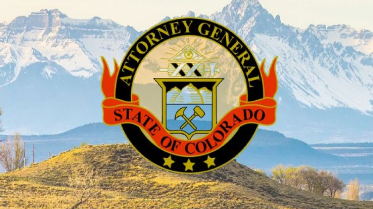 Attorney General for the State of Colorado logo.