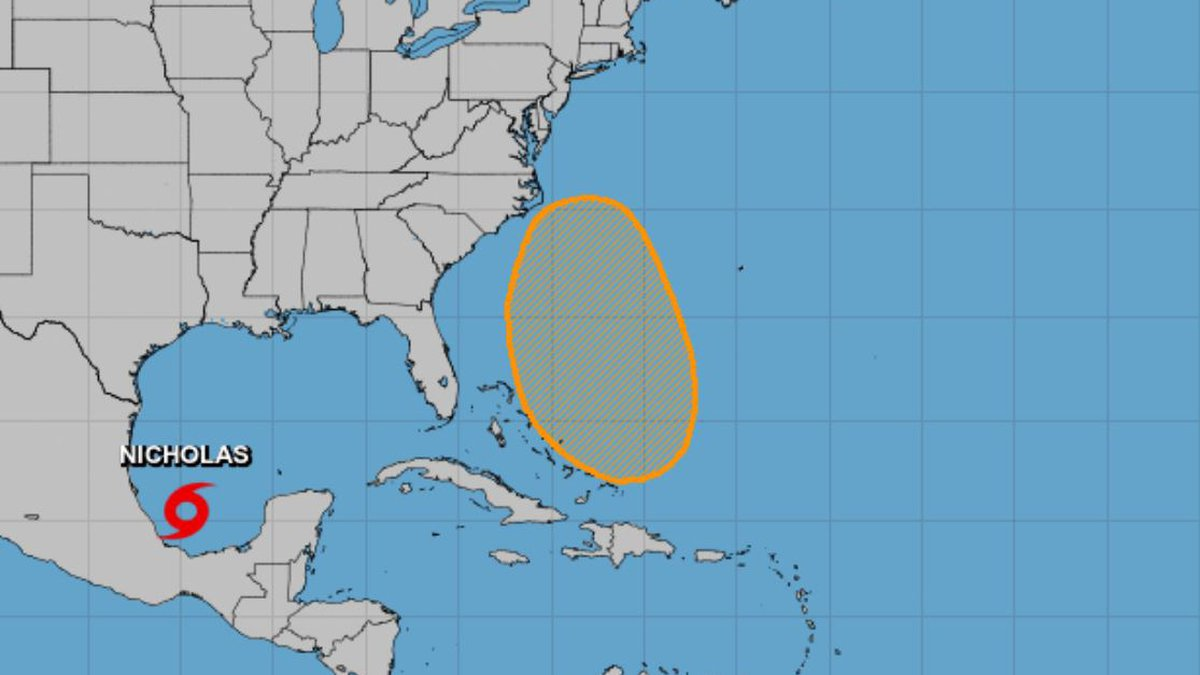 Tropical Storm Nicholas formed in the Gulf of Mexico on Sunday.