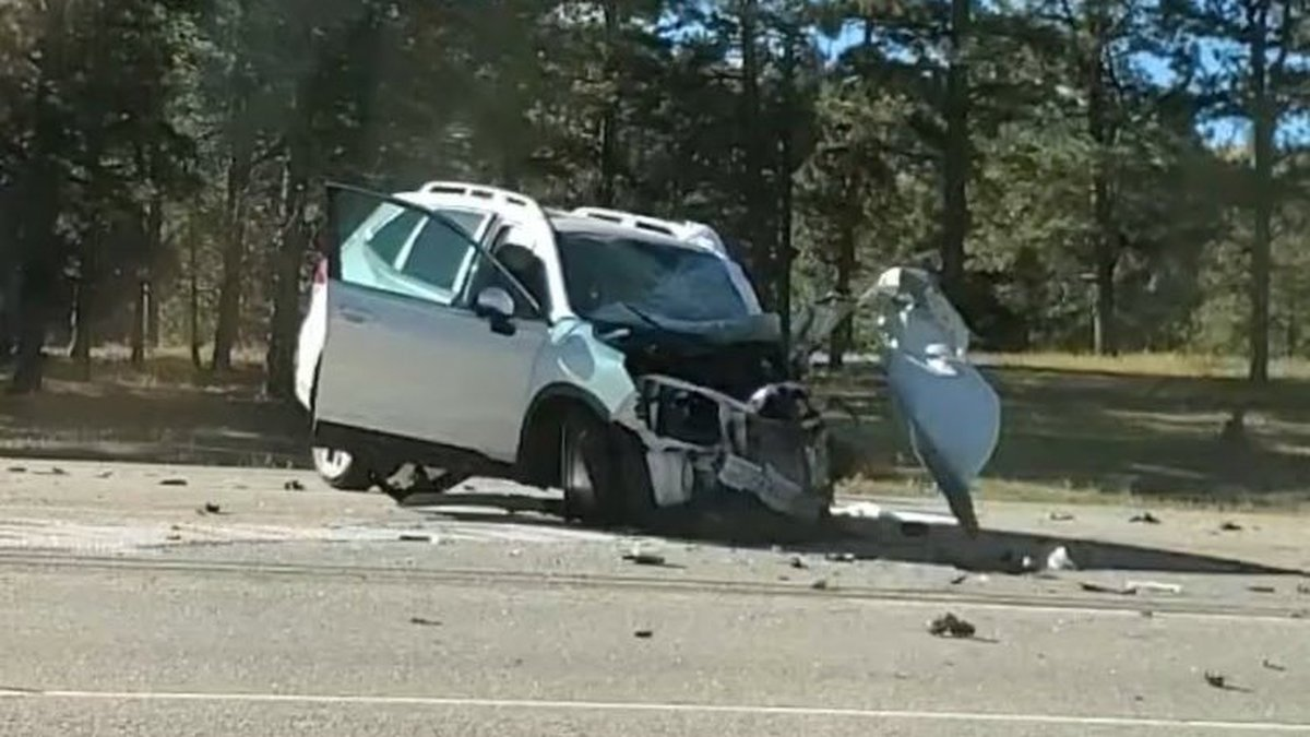 State Patrol tells 11 News a medical episode on the part of the driver in the Subaru Forester...