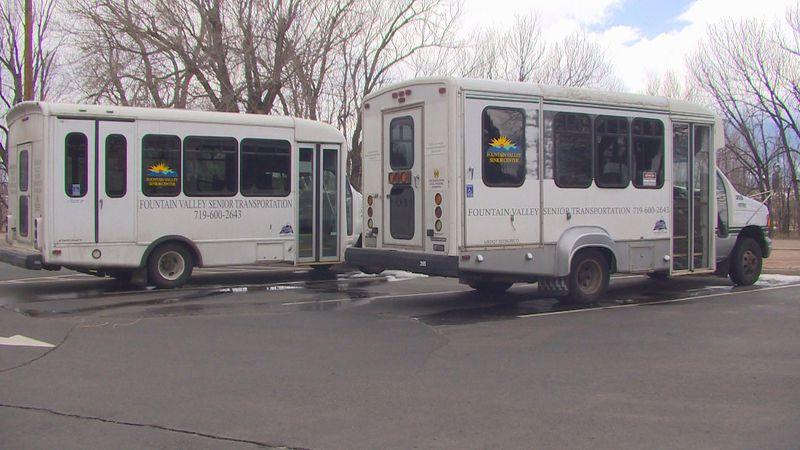 Fountain Valley Senior Center's shuttle buses