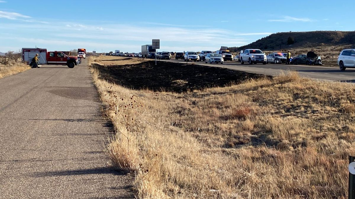 Crews quickly put out several small fires along I-25 on southern edge of El Paso County. They...