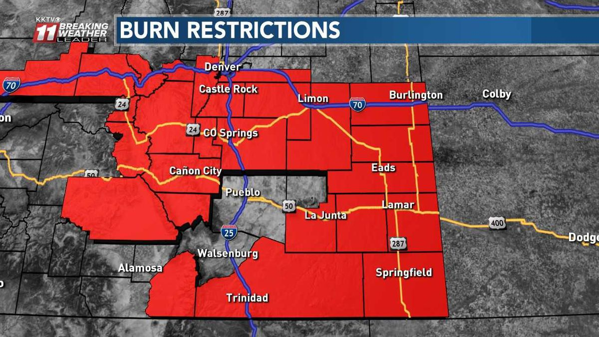 Most current burn restriction map as of 1:30 p.m. Oct. 14, 2019.
