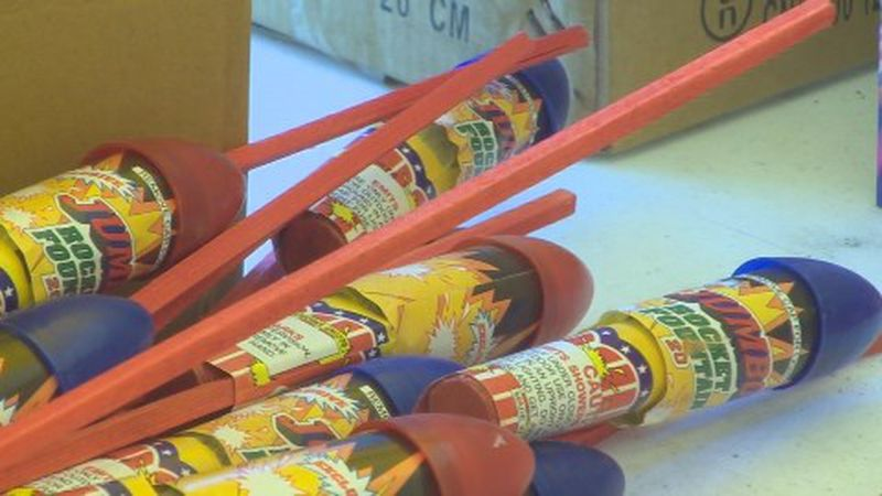 Illegal items include bottle rockets, firecrackers of any kind, sparklers and ground spinners.