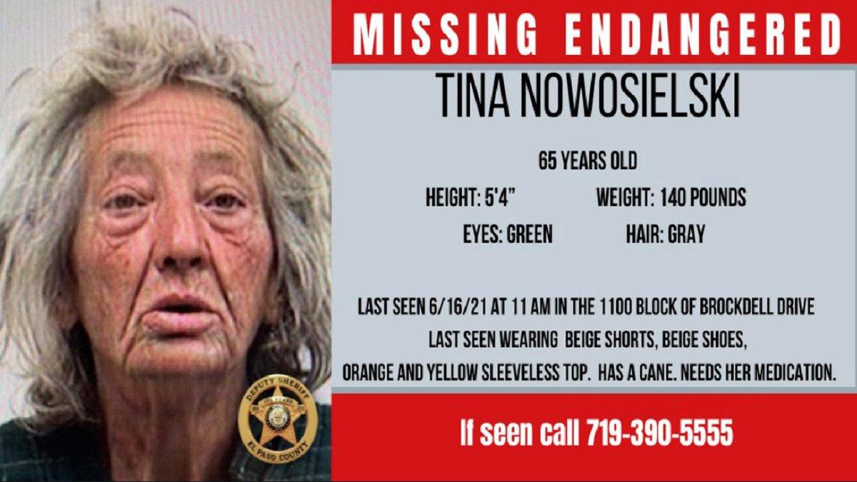 MIssing woman in El Paso County 6/16/21.