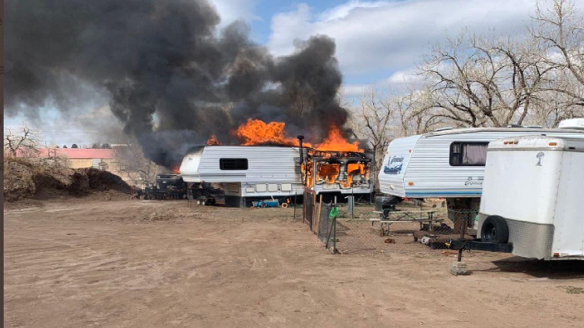 RV Fire in Colorado Springs 4/14/21.