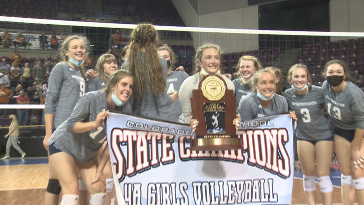 Palmer Ridge volleyball wins the 4A state championship Thursday at Broadmoor World Arena