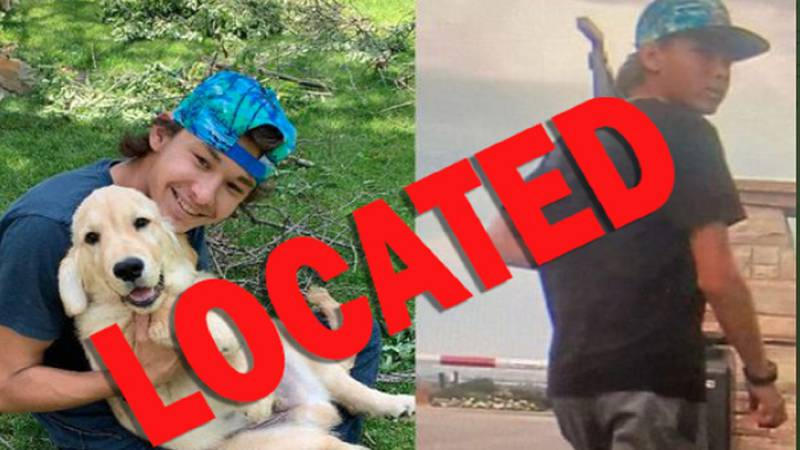 A missing teen was located and is safe!