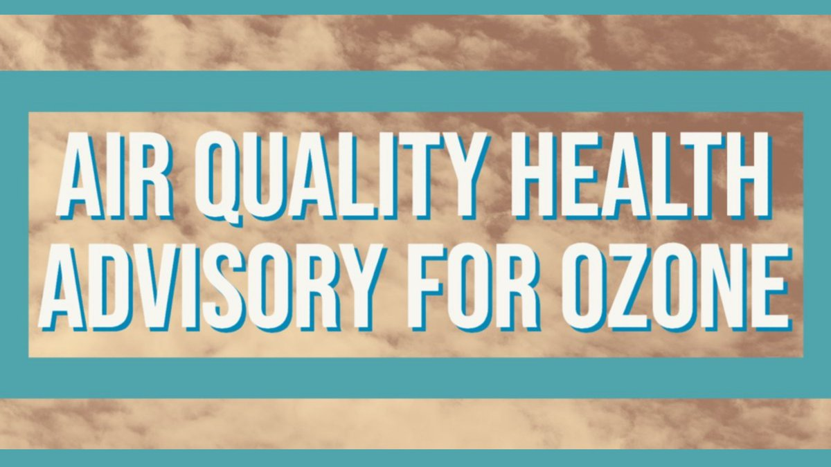 The El Paso County Department of Public Health says an air quality health advisory is in effect...