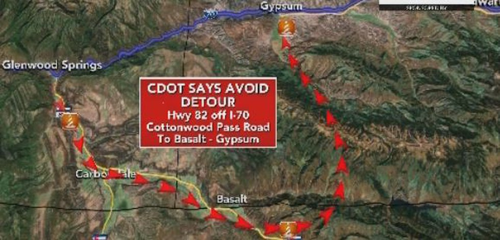 CDOT asks drivers avoid this route because it is not entirely paved, narrow, and not meant to...