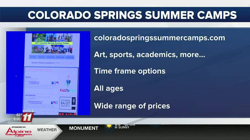 There's a website with a list of camps in the Colorado Springs area