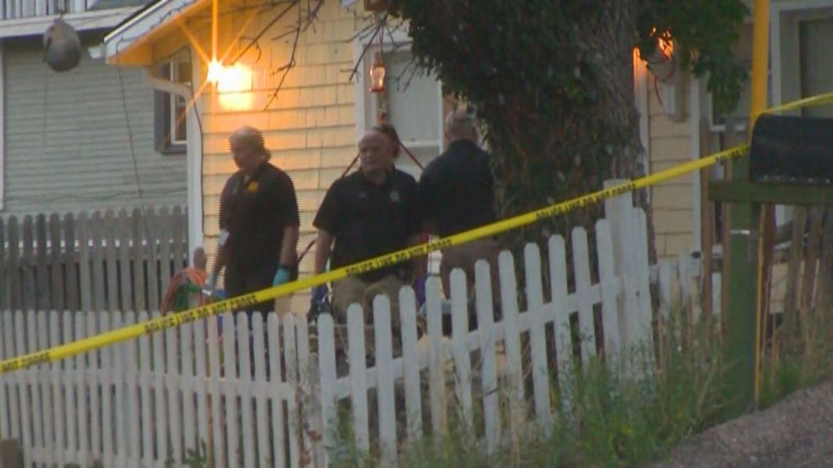 Police at the murder scene on June 20, 2020.