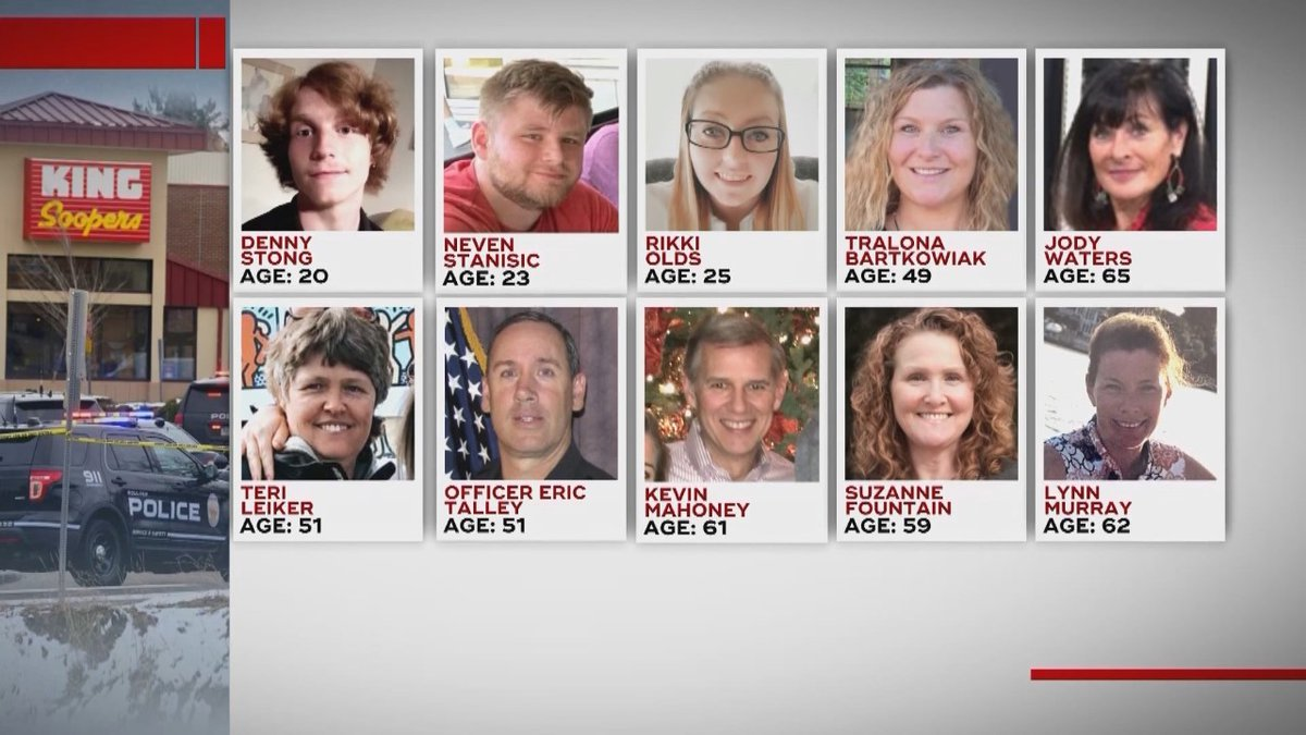 The victims in the King Soopers mass shooting on March 22, 2021.