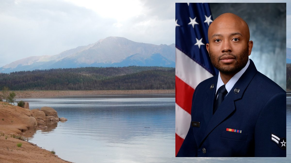 Senior Airman Ricky Teague drowned at Rampart Reservoir on Sept. 5, 2021.  He had served in the...