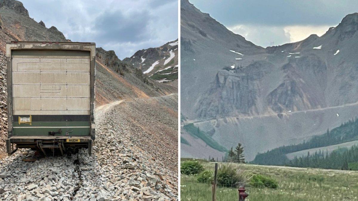 Truck stuck on Ophir Pass 6/18/21