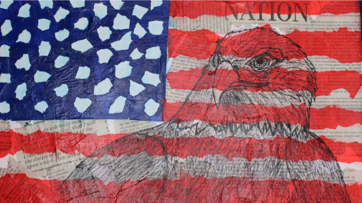 A piece of art from the  5th Congressional District Art Competition. Title: Spirit of Freedom.