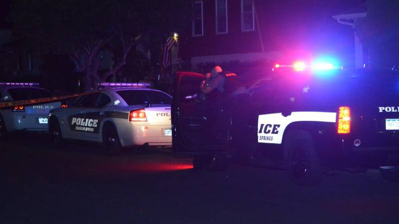 Colorado Springs Police say one man is in custody after he reportedly shot himself Saturday...