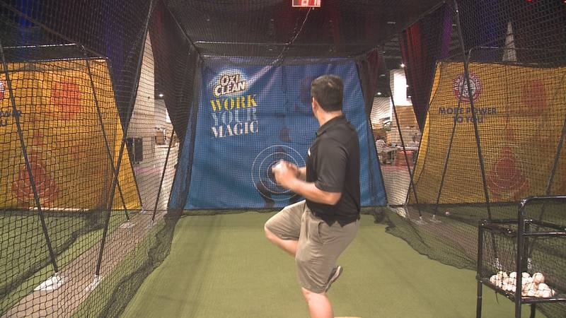 The MLB Play Ball Park's pitching zone