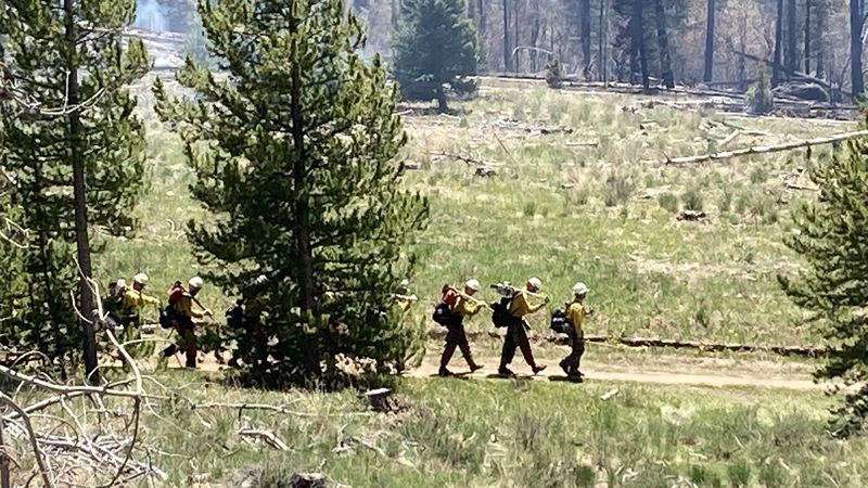 Fire crews at the scene of the Straight Creek Fire burning near Silverthorne and Dillon.