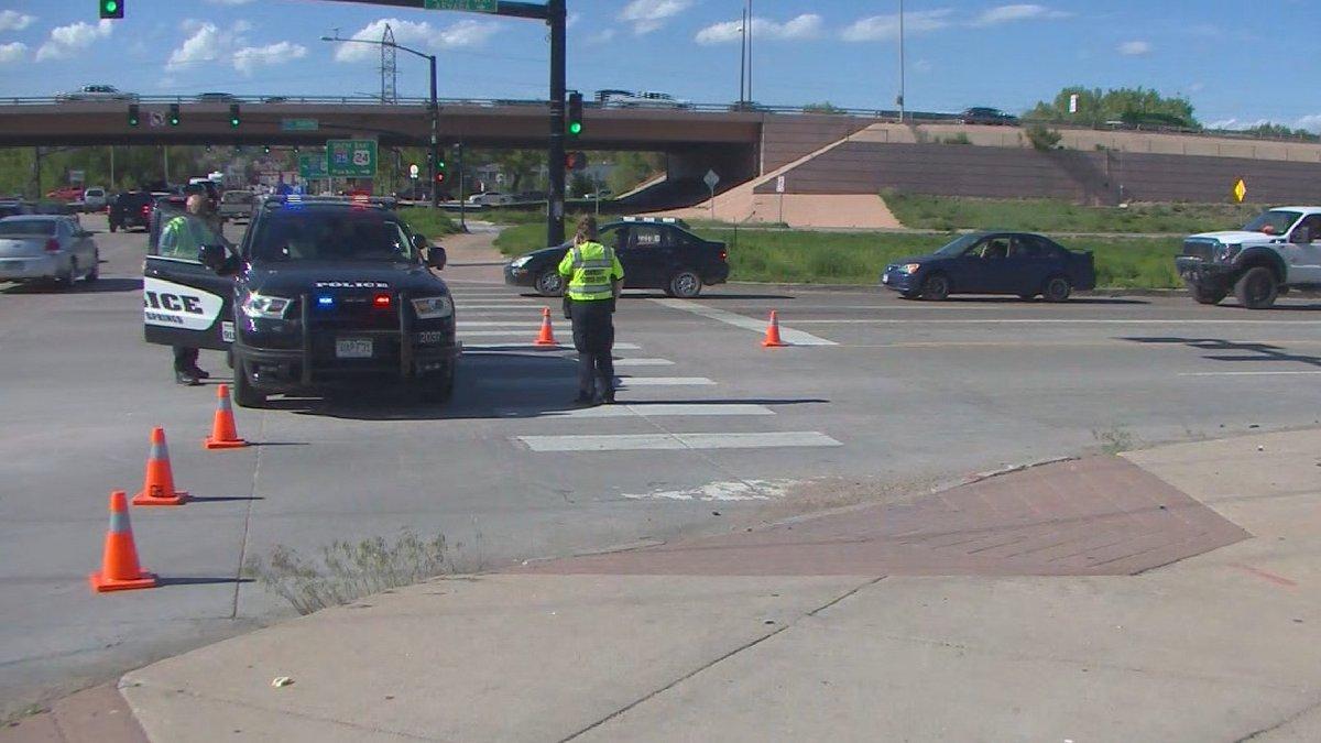 Auto-ped crash in Colorado Springs 5/25/21.