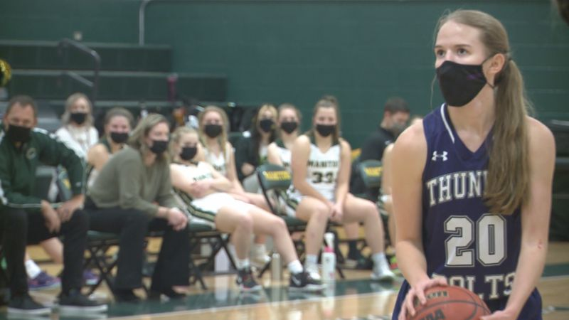 Manitou Springs and Rye girls basketball teams battle Thursday at Manitou Springs High School