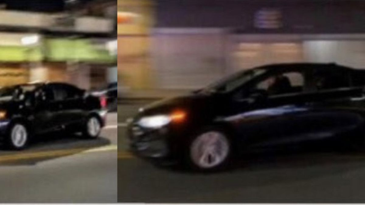 The Denver Police Department says the above vehicle is suspected of driving into a crowd of...