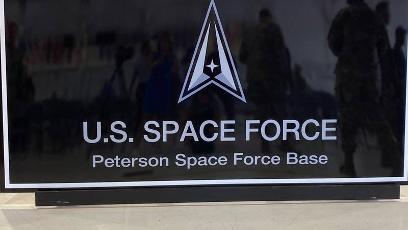 New name, new sign at the base formerly known as Peterson Air Force Base.
