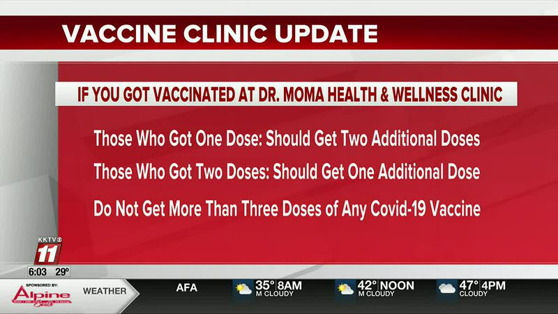 Dr. Moma Health and Wellness Clinic vaccine update