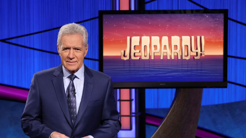 "Alex Trebek, host of the game show ""Jeopardy!"""