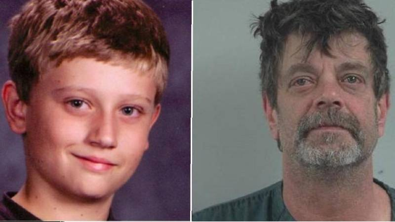 Dylan and suspect Mark Redwine (Photos from the La Plata County Sheriff's Office)