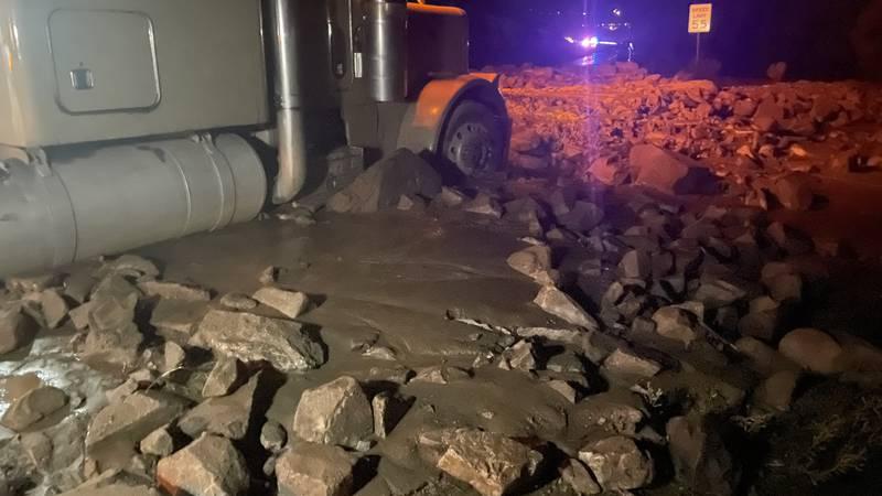 Mudslide on Highway 285 in Chaffee County