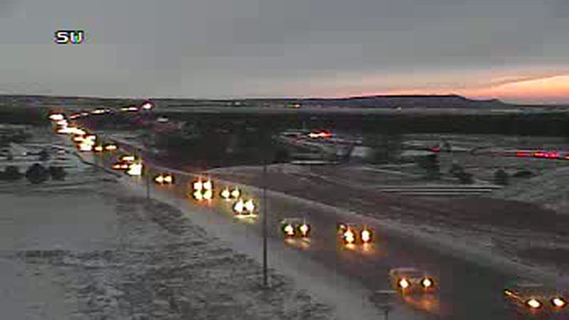 I-25 at Gleneagle on the morning of Jan. 25, 2021.