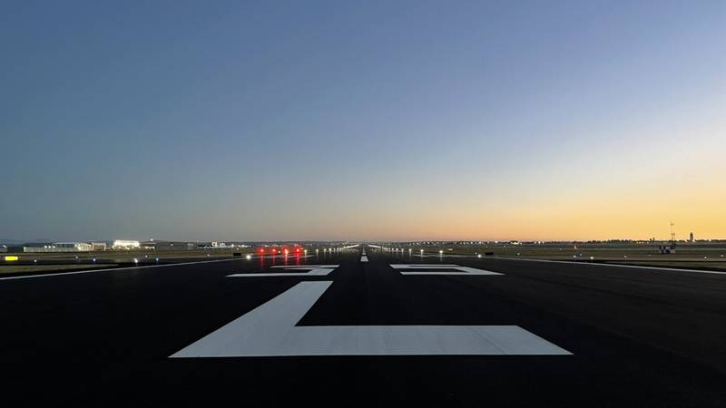 The Colorado Springs Airport (COS) completed a pavement rehabilitation project to its west runway