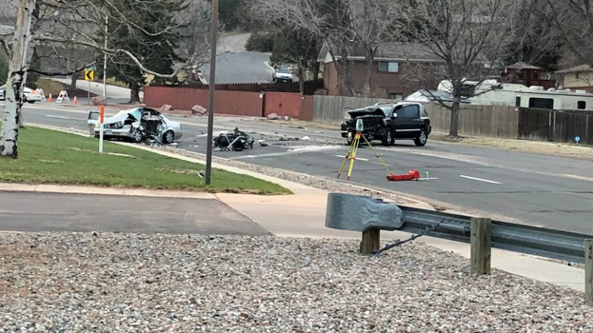 Colorado Springs police investigate a deadly crash that happened on Maizeland Road near North Academy Boulevard on Wednesday, April 3, 2019.