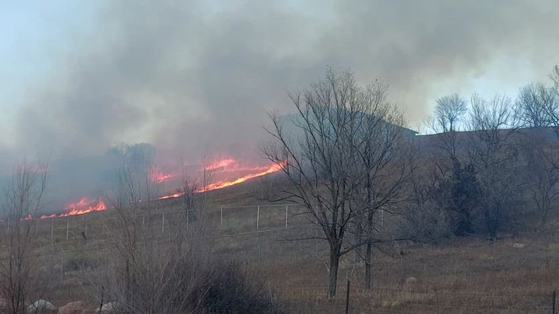 Grass fire in Colorado Springs on 1/20/21.