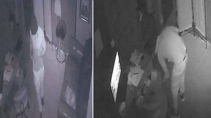 Burglary suspect in Manitou Springs.