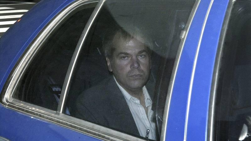 FILE - In this Nov. 18, 2003, file photo, John Hinckley Jr. arrives at U.S. District Court in...
