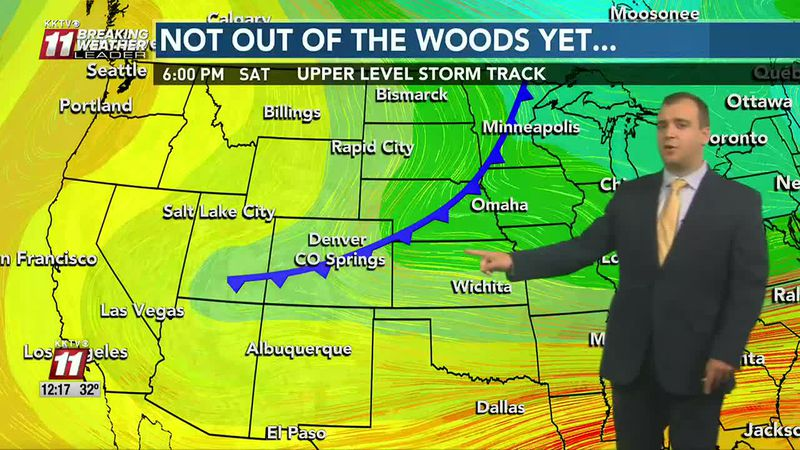 Snow tapering off today and a look at the weekend