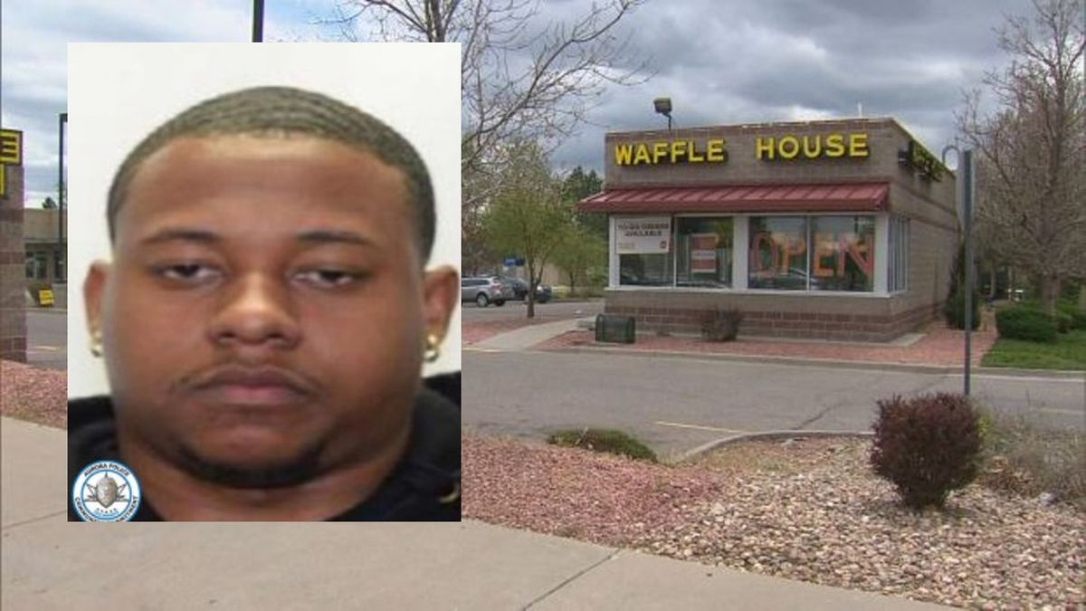 Kelvin Watson (inset) and the Waffle House on East Mississippi Avenue in Aurora where the...