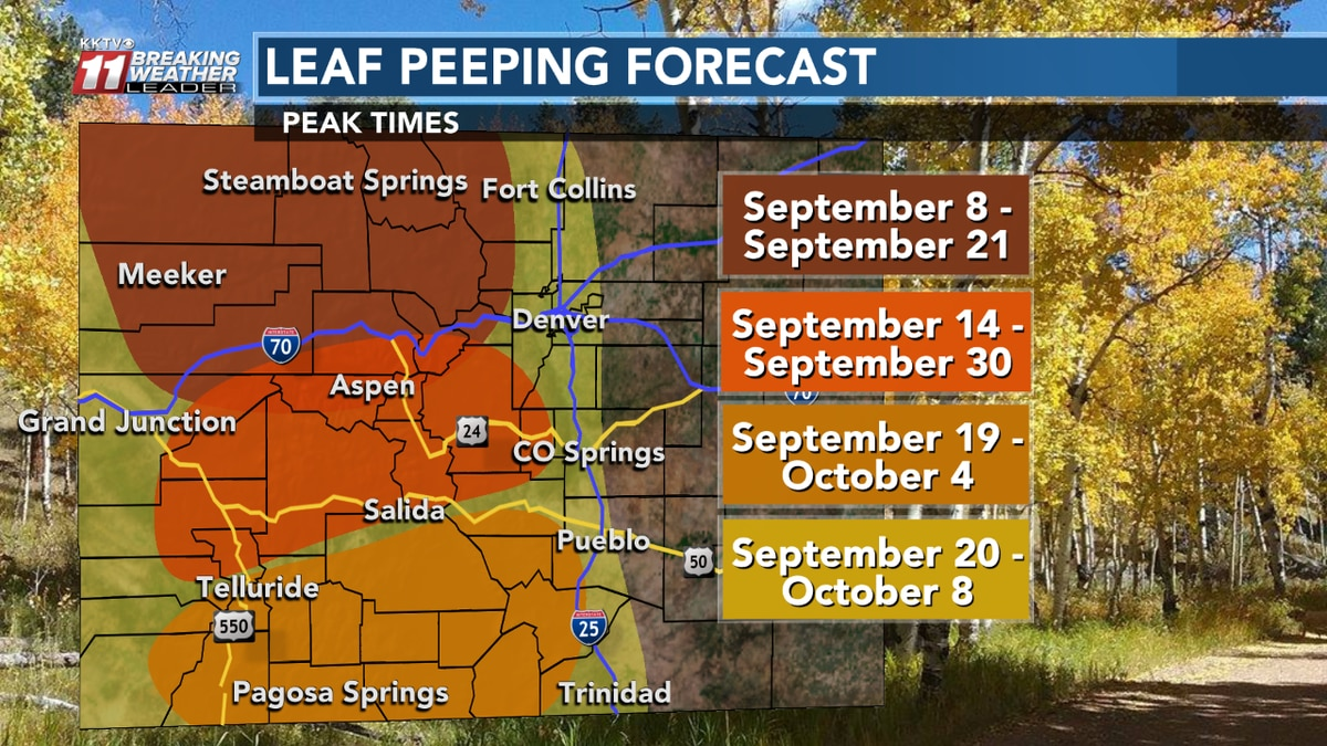 Peak times for fall foliage in Colorado from the KKTV Weather Team