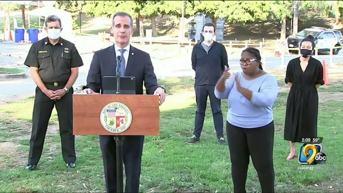 The mayor of Los Angeles says he is authorizing the city to shut off the water and electricity for property owners who are still holding large gatherings.