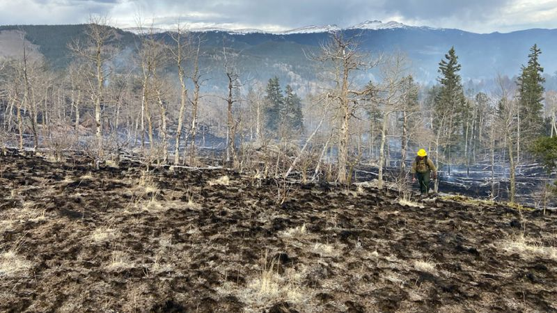 Wildfire in Park County 5/1/21.