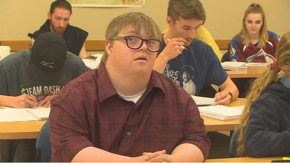 Nick Harmon is a student at UCCS with down syndrome who was calling for the university to...